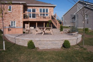 Celtik wall raised Patio and Deck
